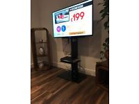 Floorr standing LCD TV stand suitable for. 40-55inch. Two glass shelves.