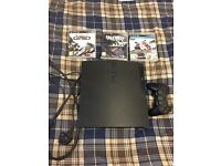 PlayStation 3 (PS3) 500gb Console with 3 Games