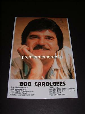 BOB CAROLGEES SIGNED REPRINT COMEDY ENTERTAINER TISWAS TV PHOTOGRAPH