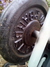 cast iron weights 2 x 25 kg in total 50 kg - CAN DELIVER