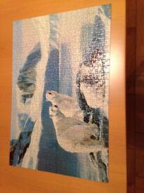 De-luxe wildlife 500 piece jigsaw with polar bear design