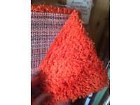 Large orange rug