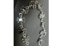 Silver and garnet marcasite ladies bracelet Luton airport area