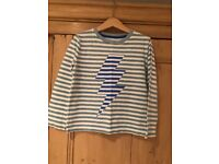 Boden boys long sleeve jersey top, age 5-6 years.