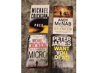 8 x books (best sellers) in excellent condition read