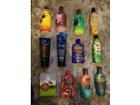 Tanning and bronzing lotions.