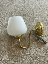 Gold & White wall lights X 4