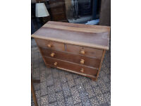 VINTAGE VICTORIAN CHEST OF DRAWERS IDEAL SHABBY CHIC UP CYCLE IN YEOVIL