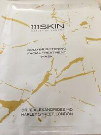 New 111Skin gold brightening facial treatment mask