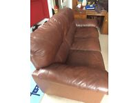 Leather Sofa 3 Seat Free to good home Collect only
