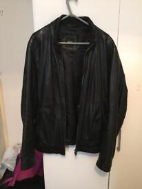 Genuine Hugo Boss men's leather jacket (m)