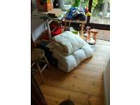 King size and double feather duvet