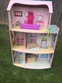 Large doll house-suitable for barber size dolls