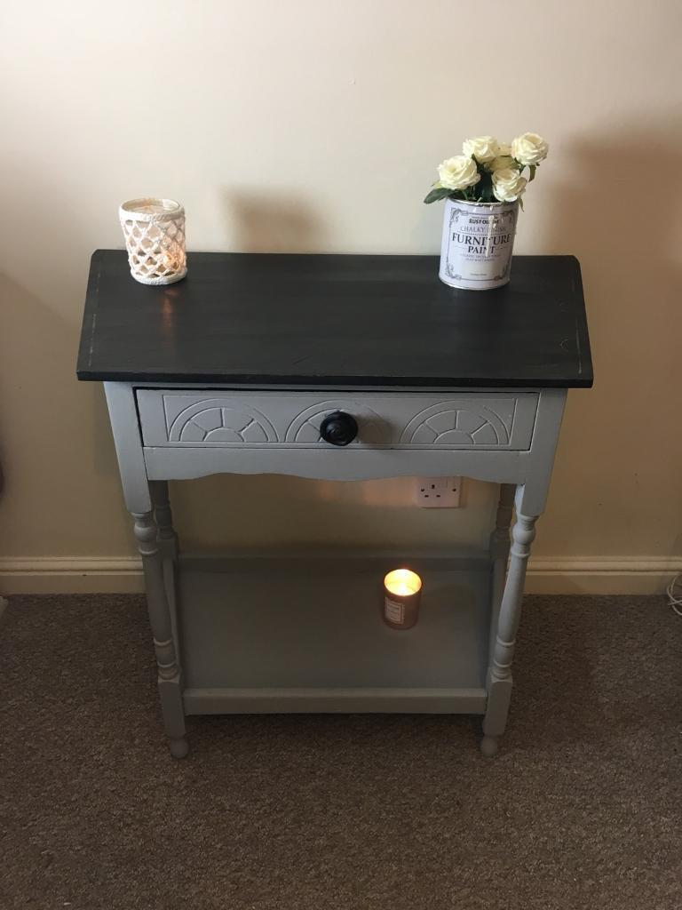 Vintage Style Console Table With Drawer Side Shabby Chic