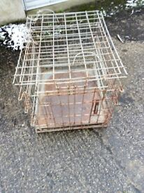 Metal Pet Transport Cage well used