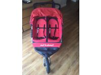 Out N About Nipper 360 Double Pram Used Condition