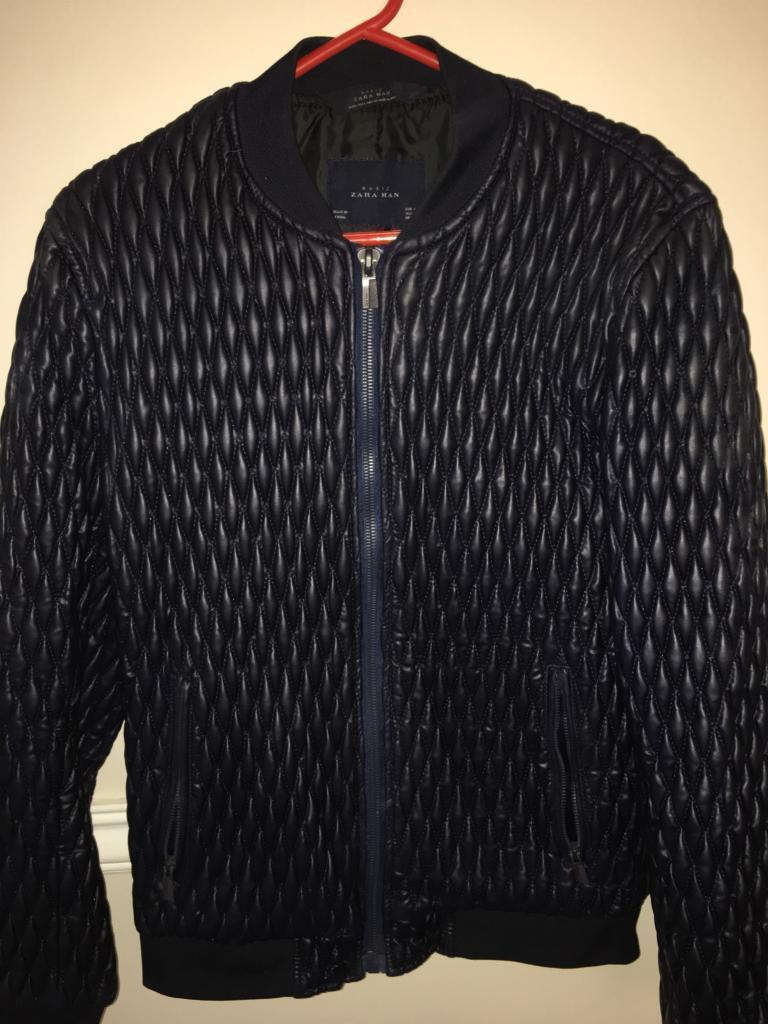 ab57fb41b £10 MENS ZARA NAVY BUBBLE BOMBER JACKET SIZE (L) | in Ely, Cardiff | Gumtree