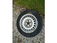 VW T5 Transporter Spare Wheel and Tyre Good Tread