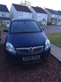 Blue Vauxhall Zafira Elite, top end model 1.9TD 150BHP