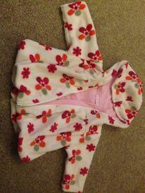Cherokee baby girls fleece coat. 0-3 months