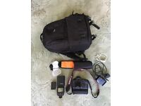Cannon mark 1 digital camera with accessories