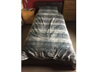Black Faux Lether Single Bed