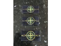 3 Genuine Stone Island Labels.