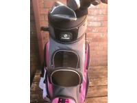 Fazer golf bag,trolly and clubs included