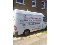 Removals man and van hire