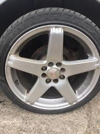 205/40/R17, 17 inch alloy rims x4, with good tyres on