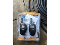 Cobra walkie talkie x2