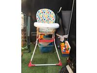 Childrens high chair. Excellent condition. £10 today