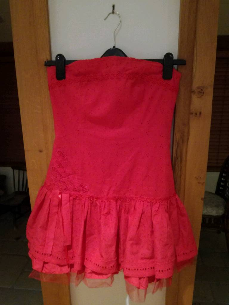 Red ladies party dress