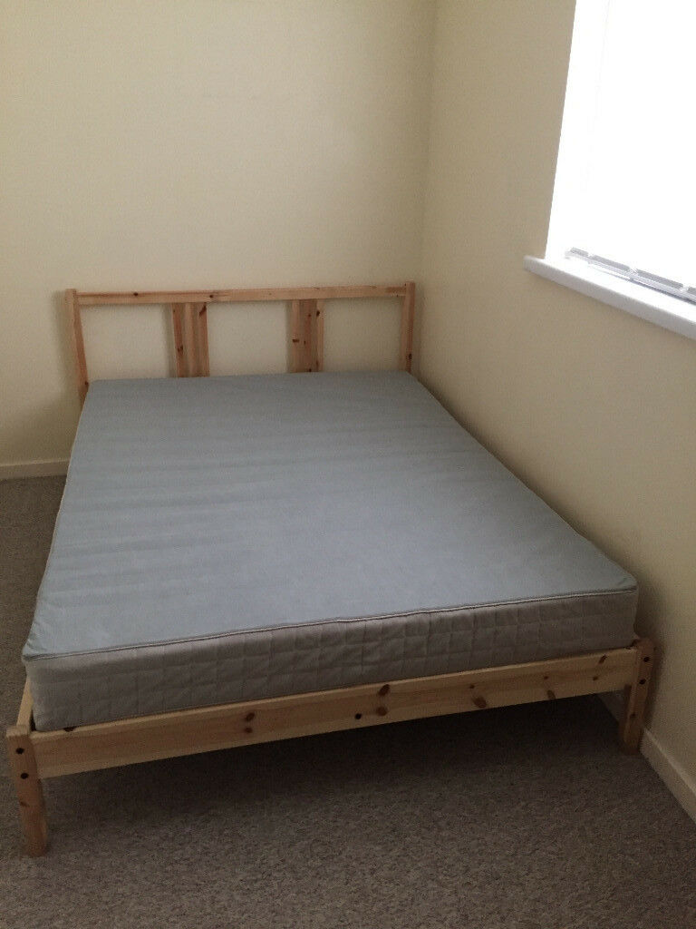 Ikea double bed and mattress in plaistow london gumtree for Double bed mattress
