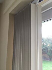 Vertical blind, almost brand new.