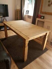 Natural Pine wood Dining Table Excellent condition. Less than 12 months old.
