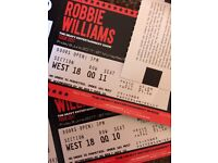 2 Robbie Williams tickets, Murrayfield Stadium, Friday 9th June. Looking for face value ono £70 each