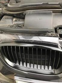 Genuine BMW E92 E93 pre Lci bonnet kidney grilles gloss black