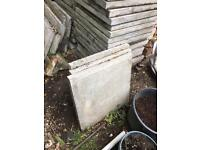 Paving slabs approximately 50