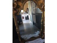 Antique 6ft gold mirror