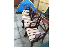 5 strong steady chairs for sale very cheap suitable for dining table