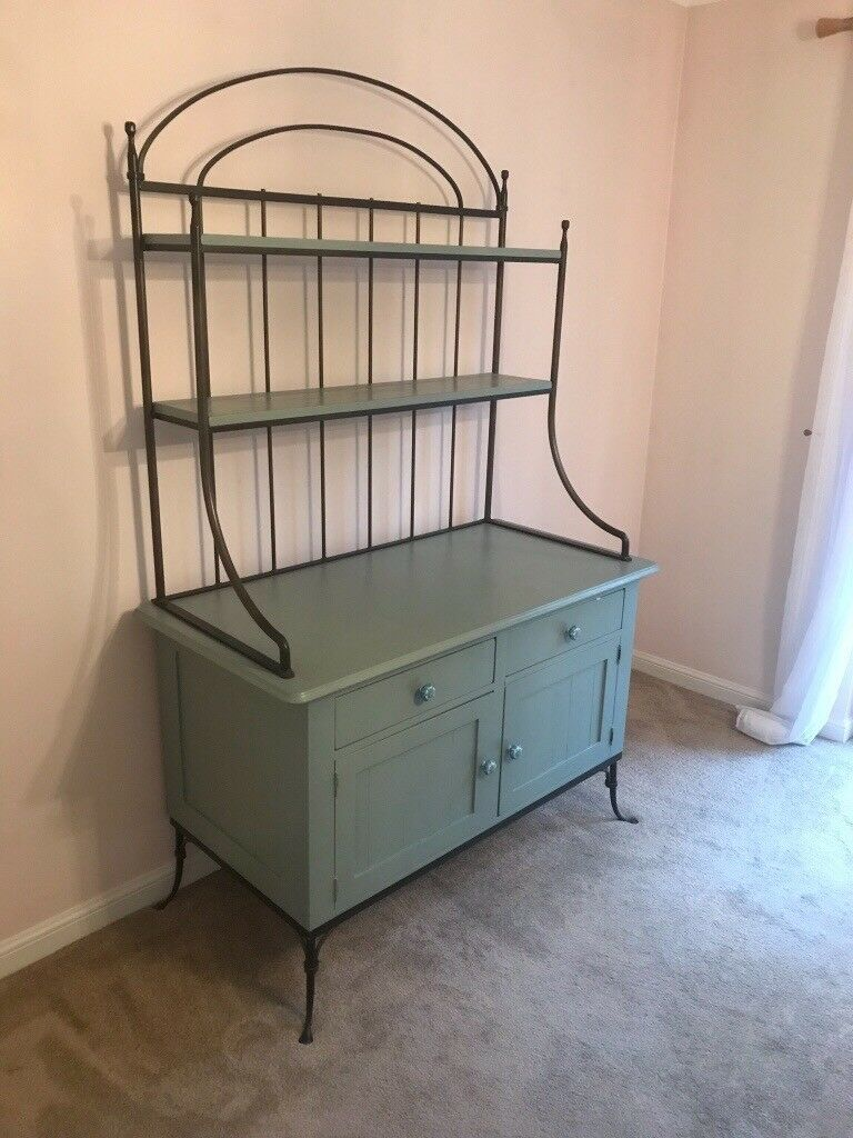 Art Deco Dresser Full Renovated With Wrought Iron Top Frame Decoratively Handled Draws
