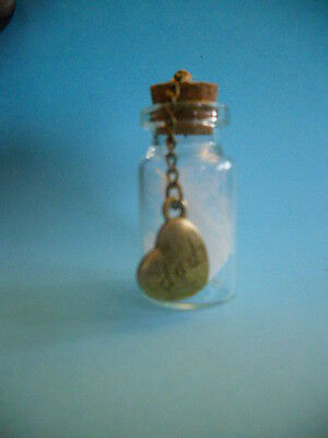 Angels feathers in a bottle Guardian Angel Dad Sadly Missed Rememberance