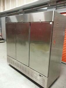 THREE DOOR STAINLESS STEEL FREEZER