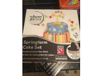 Brand new cake tins, 2 per box, 1 large & 1 medium