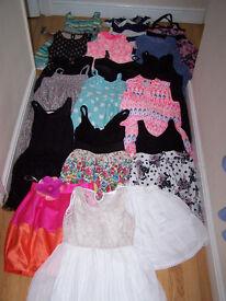EXTRA LARGE BUNDLE OF 16 GIRLS DRESSES 9-10