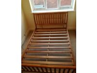 Double bed frame (and optional mattress)