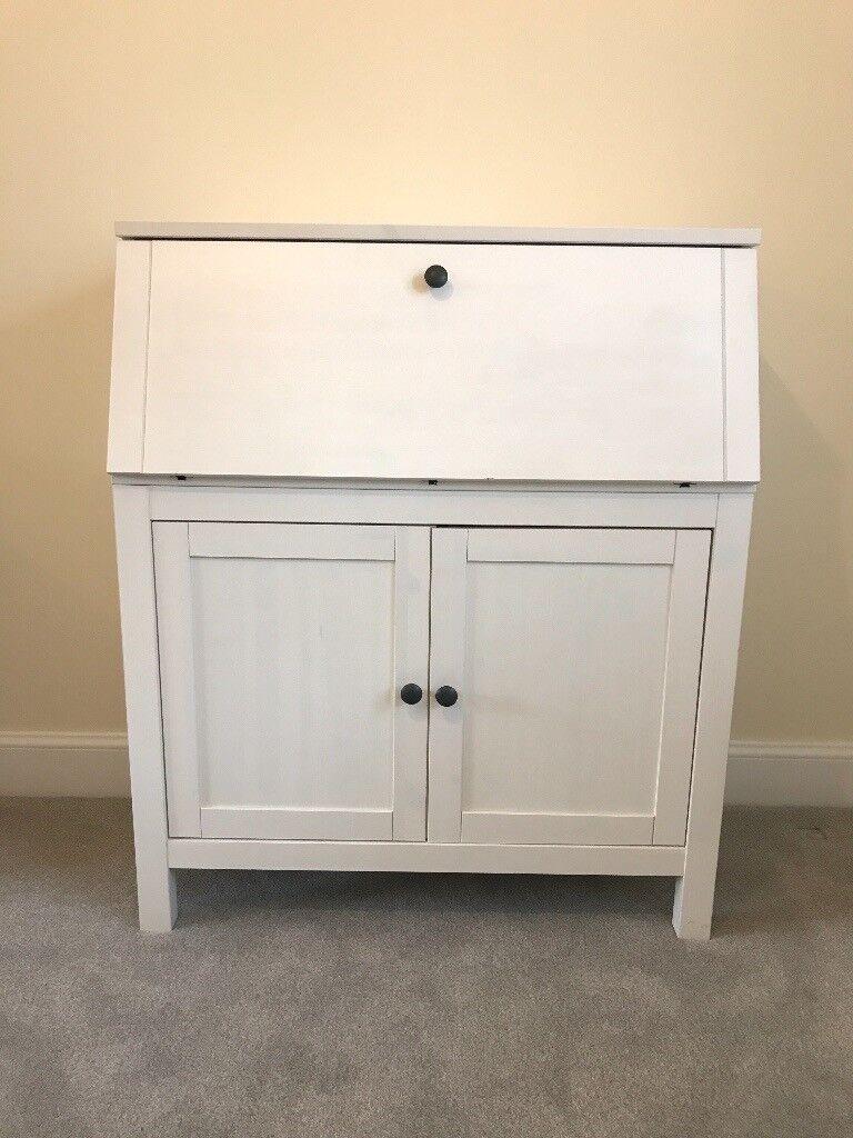 Bureau desk - white satin - Still sells in ikea