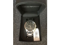 Emporio Armani AR2457 Sportivo Black Dial Stainless Steel Mens Watch - BRAND NEW