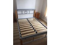 Double-bed base and frame